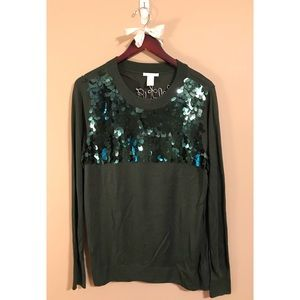 Pine Green Sparkly Holiday Sweater🌲